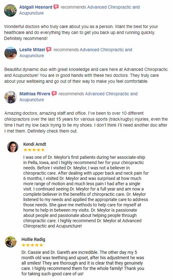 Chiropractic Waukee IA Facebook and Google Reviews